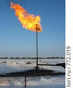 Купить «Факел газовый», фото № 772019, снято 8 февраля 2008 г. (c) Булат Каримов / Фотобанк Лори
