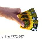 Купить «Кредитки. Малая глубина резкости. Фокус на картах», фото № 772567, снято 25 марта 2009 г. (c) ФЕДЛОГ / Фотобанк Лори