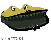 Купить «Кошелек-крокодил», иллюстрация № 773839 (c) Смирнова Ирина / Фотобанк Лори