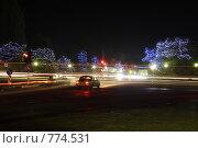 Ночные огни (2008 год). Редакционное фото, фотограф Дмитрий Левченко / Фотобанк Лори