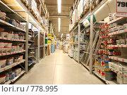 Купить «Магазин строительных материалов», фото № 778995, снято 18 января 2019 г. (c) Losevsky Pavel / Фотобанк Лори