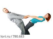 Мужчина и девушка стоят, держась за руки. Стоковое фото, фотограф Losevsky Pavel / Фотобанк Лори