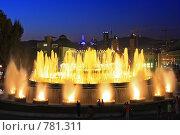 Купить «Фонтан перед Национальным Дворцом Каталонии. Барселона», фото № 781311, снято 4 сентября 2008 г. (c) Vitas / Фотобанк Лори