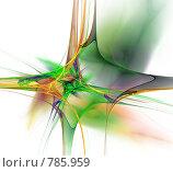 Купить «Фрактал на белом фоне», иллюстрация № 785959 (c) Valeriy Novikov / Фотобанк Лори