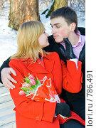 Купить «Влюбленные на скамье в парке», фото № 786491, снято 8 марта 2009 г. (c) Ольга Красавина / Фотобанк Лори