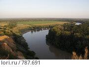 Река Кубань. Стоковое фото, фотограф Дмитрий Левченко / Фотобанк Лори