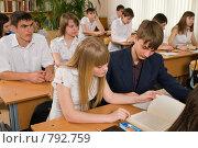 Купить «На уроке в девятом классе», фото № 792759, снято 6 апреля 2009 г. (c) Федор Королевский / Фотобанк Лори
