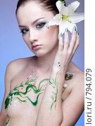 Купить «Красивая девушка. Образ русалки», фото № 794079, снято 20 февраля 2009 г. (c) Serg Zastavkin / Фотобанк Лори