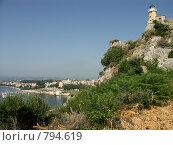 Маяк над заливом Гарицы. Греция, о.Корфу (2008 год). Стоковое фото, фотограф Олег Гусев / Фотобанк Лори