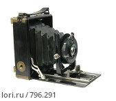 Старинный пластиночный фотоаппарат. Стоковое фото, фотограф Косоуров Юрий / Фотобанк Лори