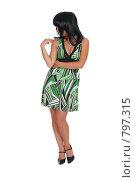Купить «Девушка в зеленом платье», фото № 797315, снято 7 августа 2007 г. (c) Vdovina Elena / Фотобанк Лори