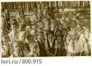 Купить «Поль Робсон в пионерском лагере», фото № 800915, снято 15 ноября 2018 г. (c) Рябой Владимир Иванович / Фотобанк Лори