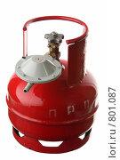 Купить «Газовый баллон с редуктором», фото № 801087, снято 11 апреля 2009 г. (c) Игорь Веснинов / Фотобанк Лори