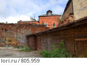 Дворик в городе нижний новгород (2008 год). Стоковое фото, фотограф Светлана Архи / Фотобанк Лори