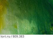 Зеленая текстура, написанная маслом на холсте. Стоковое фото, фотограф Павкина Зоя / Фотобанк Лори