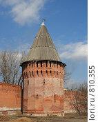 Купить «Вид на башню и крепостную стену, г. Смоленск», фото № 810355, снято 9 апреля 2009 г. (c) Denis Kh. / Фотобанк Лори