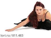 Купить «Девушка в черном платье», фото № 811483, снято 23 мая 2019 г. (c) Losevsky Pavel / Фотобанк Лори