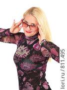 Купить «Женщина средних лет в очках», фото № 811495, снято 18 января 2019 г. (c) Losevsky Pavel / Фотобанк Лори