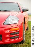 Купить «Красный спортивный автомобиль», фото № 811659, снято 16 октября 2018 г. (c) Losevsky Pavel / Фотобанк Лори