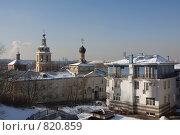 Купить «Москва. Вид на Андреевский монастырь.», фото № 820859, снято 19 февраля 2009 г. (c) Михаил Ворожцов / Фотобанк Лори