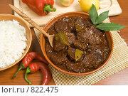 Купить «Домашний ужин: мясо в соусе с черносливом», фото № 822475, снято 13 октября 2007 г. (c) Елена А / Фотобанк Лори