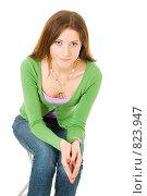 Девушка выражает сожаление. Стоковое фото, фотограф Сергей Новиков / Фотобанк Лори