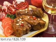 Купить «Мясо по-восточному, тушеное в меду с орехами», фото № 826139, снято 21 октября 2007 г. (c) Елена А / Фотобанк Лори