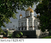 Храм Христа Спасителя. Москва (2008 год). Стоковое фото, фотограф Олег Гусев / Фотобанк Лори