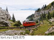 Горная железная дорога в Швейцарских Альпах (2008 год). Стоковое фото, фотограф Aleksey Trefilov / Фотобанк Лори