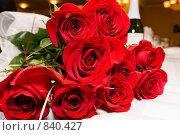 Купить «Букет роз», фото № 840427, снято 17 ноября 2007 г. (c) Максим Иванов / Фотобанк Лори