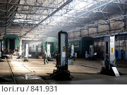 Купить «В локомотивном депо», фото № 841931, снято 18 сентября 2008 г. (c) Александр Подшивалов / Фотобанк Лори