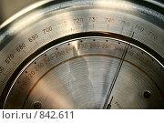 Купить «Шкала профессионального барометра крупным планом», фото № 842611, снято 29 февраля 2008 г. (c) Александр Куличенко / Фотобанк Лори