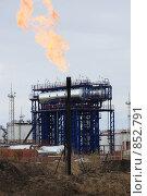 Купить «Сжигание попутного газа», фото № 852791, снято 7 мая 2009 г. (c) Анатолий Ефимов / Фотобанк Лори