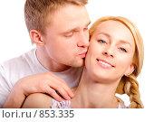 Купить «Молодая красивая пара», фото № 853335, снято 8 апреля 2009 г. (c) BestPhotoStudio / Фотобанк Лори