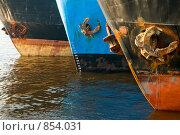 Купить «Суда на реке», эксклюзивное фото № 854031, снято 4 мая 2009 г. (c) Александр Алексеев / Фотобанк Лори