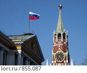 Купить «Москва, Кремль», эксклюзивное фото № 855087, снято 3 мая 2009 г. (c) Дмитрий Неумоин / Фотобанк Лори