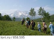 Купить «Туристическая группа на Камчатке», фото № 858595, снято 4 августа 2006 г. (c) Кузнецов Андрей / Фотобанк Лори