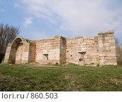 Купить «Фрагмент крепостной стены. Серпухов», эксклюзивное фото № 860503, снято 30 апреля 2009 г. (c) Алина Голышева / Фотобанк Лори
