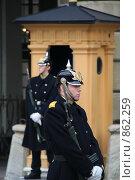 Купить «Охрана королевского дворца. (г. Стокгольм. Швеция)», фото № 862259, снято 15 марта 2009 г. (c) Александр Секретарев / Фотобанк Лори
