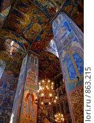 Ярославль. Церковь Илии Пророка. Интерьер (2008 год). Редакционное фото, фотограф Julia Nelson / Фотобанк Лори