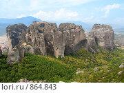 Купить «Скальная гряда, Метеоры, Греция», фото № 864843, снято 30 августа 2008 г. (c) Максим Иванов / Фотобанк Лори