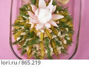 Салат в виде кактуса. Стоковое фото, фотограф Елена А / Фотобанк Лори