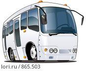 Мультяшный автобус. Стоковая иллюстрация, иллюстратор Александр Володин / Фотобанк Лори