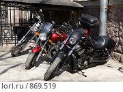 Купить «Мотоциклы», фото № 869519, снято 3 мая 2009 г. (c) Юрий Винокуров / Фотобанк Лори