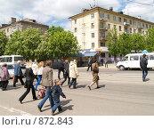 Купить «Пешеходный переход», фото № 872843, снято 19 мая 2009 г. (c) Примак Полина / Фотобанк Лори