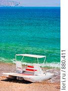Купить «Водный велосипед на берегу моря», фото № 880411, снято 29 мая 2007 г. (c) Михаил Лукьянов / Фотобанк Лори