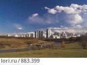 Купить «Москва. Олимпийская деревня-80. Пруды», фото № 883399, снято 18 апреля 2009 г. (c) Роман Коротаев / Фотобанк Лори
