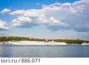 Химкинское водохранилище. Северный речной вокзал. Москва (2009 год). Стоковое фото, фотограф Николай Коржов / Фотобанк Лори