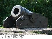Купить «Выборг. Старинная корабельная пушка», фото № 887467, снято 23 мая 2018 г. (c) Сергей  Ушаков / Фотобанк Лори