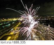 Купить «Фейерверк», фото № 888335, снято 1 января 2009 г. (c) Михаил Фёдоров / Фотобанк Лори